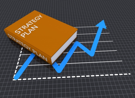 Business book as strategy planning concept  photo