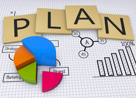 strategic plan: Concept image for stock exchange, finances and data