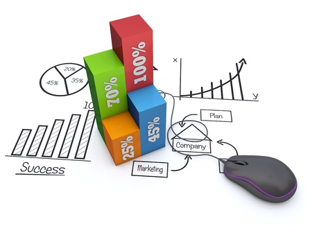 competitive business: Business strategy planning as a concept Stock Photo