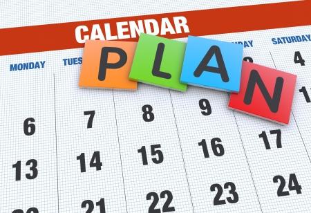planeaci�n: Planificaci�n de calendario como un concepto