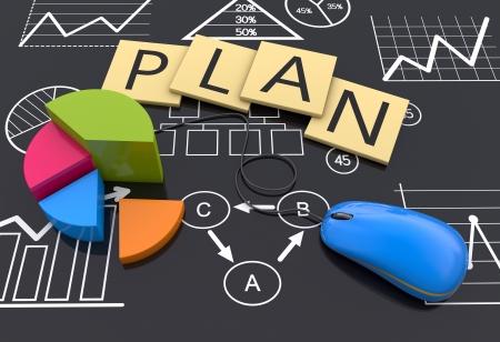 Planification des activités de la Stratégie en arrière-plan Banque d'images - 19937064