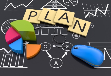 Strategy business planning as a background photo