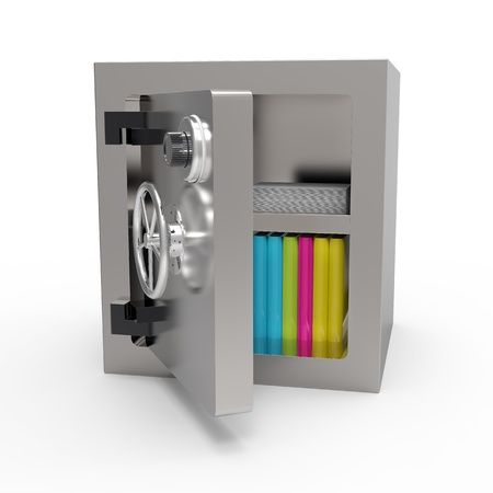 cryptography: Data security in bank vault Stock Photo