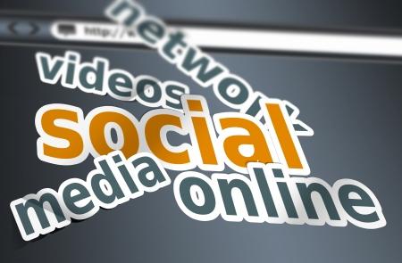 Social media concept as a background photo