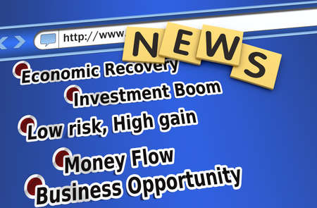 credit crisis: Economic recovery news on the website Stock Photo