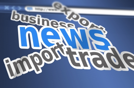 business news: Business news as a background concept Stock Photo