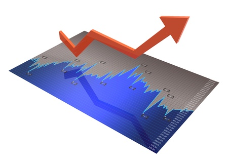 Business chart showing the economic growth  Stock Photo - 19937027