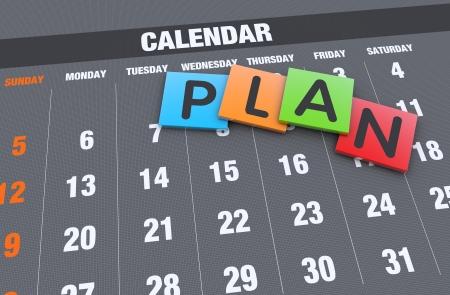 Planification calendrier comme un concept Banque d'images
