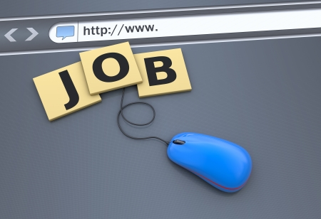 job search: Job Search on the website Stock Photo
