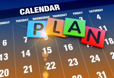event planner: Planning calendar as a concept