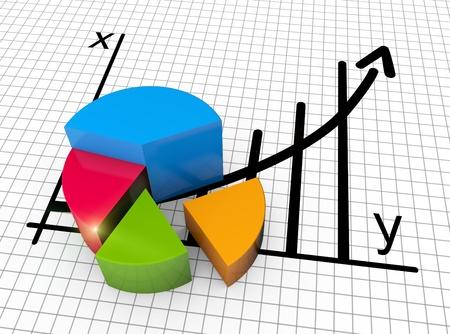Les données financières sous forme de graphiques et de diagrammes Banque d'images - 19937007