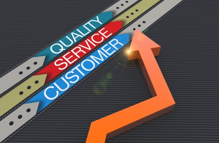 customer service icon: Customer service evaluation for quality Stock Photo