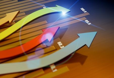 Financiële richting als business concept Stockfoto
