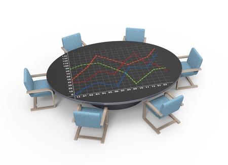 planificacion estrategica: Mesa ovalada con el concepto de planificaci�n estrat�gica