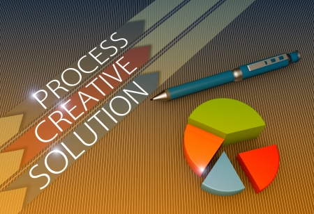 Strategy concept illustration design with pie chart illustration