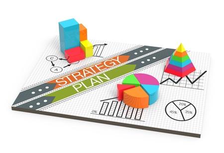 Un gros plan d'un tableau de flux de business plan sur un tableau blanc Banque d'images - 21151416