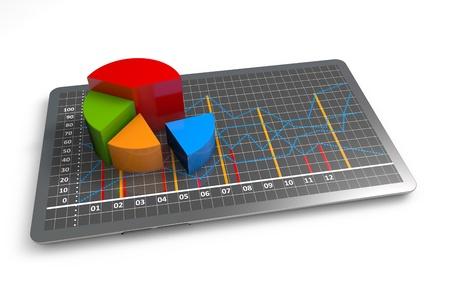 Financial pie chart as a concept Stock fotó
