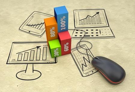 을 컨셉으로 비즈니스 전략 계획 스톡 콘텐츠 - 21151426