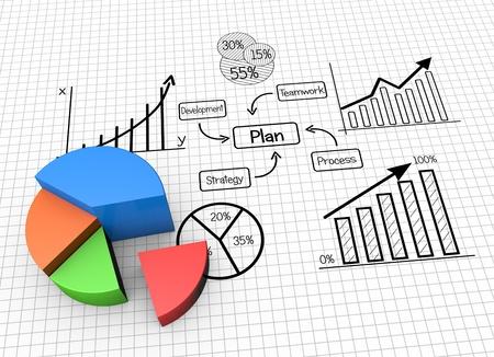 planificacion estrategica: Concepto de imagen de planificación, las finanzas y los datos