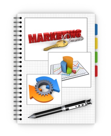 Notebook marketing as a concept photo