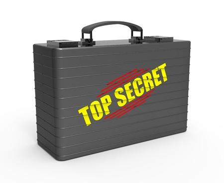 Suitcase containing top secret document Stok Fotoğraf