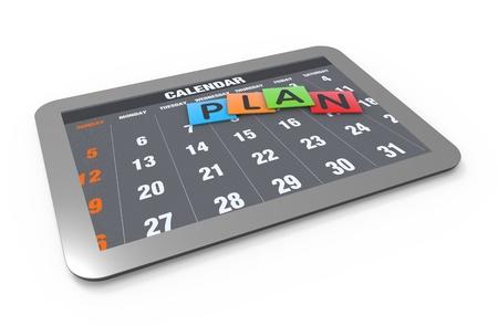 Planning calendar as a concept photo