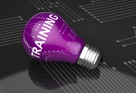Light bulb skill as a background photo