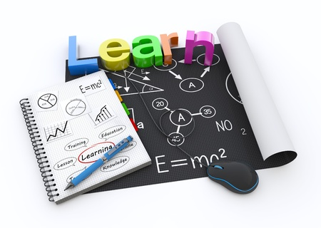 Study with school symbols background photo