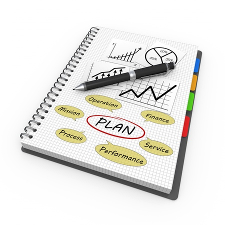 Business notebook concept as background photo