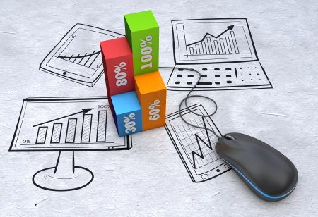 expansion: Business strategy planning as a concept Stock Photo