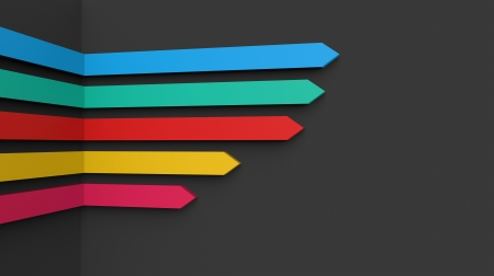 Colorful arrows on a black background photo