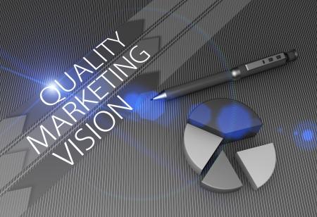 tiếp thị: Thiết kế khái niệm chiến lược minh họa với biểu đồ hình tròn