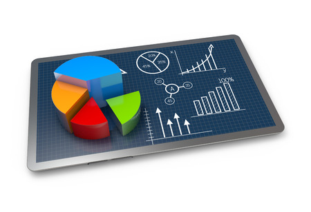 Financial pie chart as a concept Stockfoto