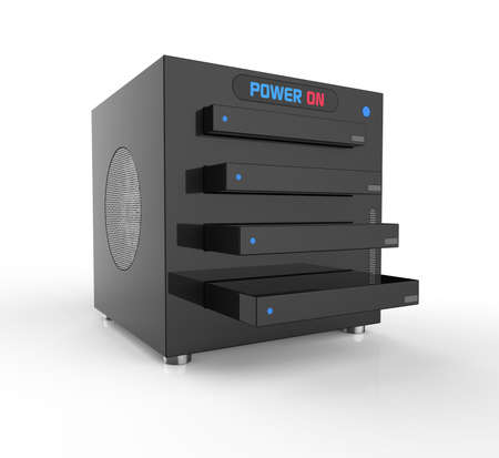 nas: NAS,network attached storage, with four hard drives