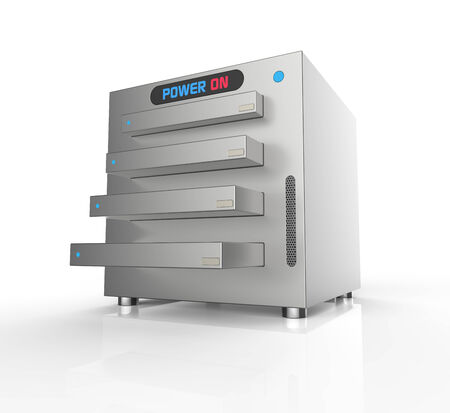 NAS,network attached storage, with four hard drives