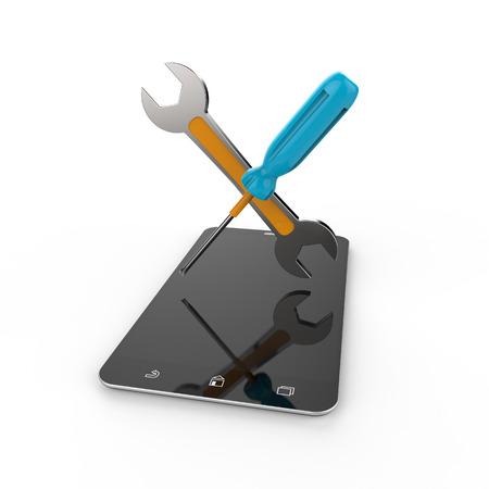 solucion de problemas: La atención al cliente como un concepto Foto de archivo