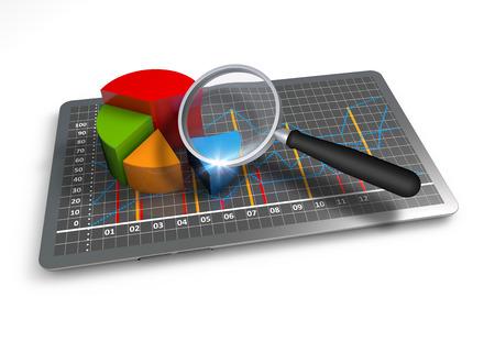analyse: Graphiques de rapport annuel en d�tail Banque d'images