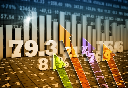 world market: Business charts and graphs as concept Stock Photo