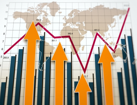 Business charts and graphs as concept Banque d'images