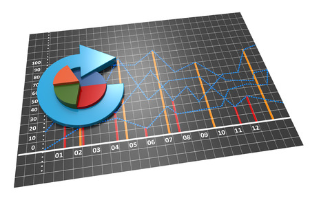 Business plannig with pie chart photo