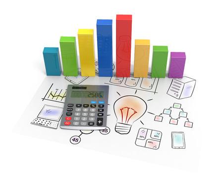 contabilidad financiera cuentas: Carta de asunto que muestra el éxito financiero