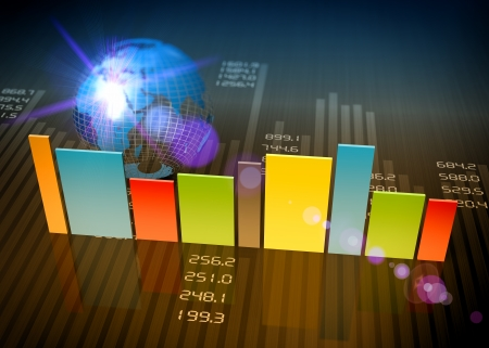비즈니스 차트 및 개념으로 그래프 스톡 콘텐츠 - 24199128