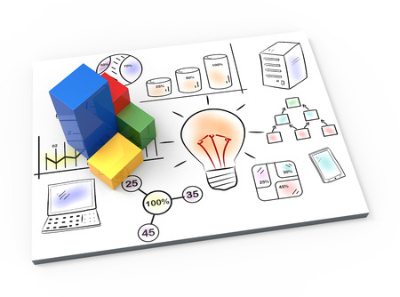 Creative graphs with element drawing business plan