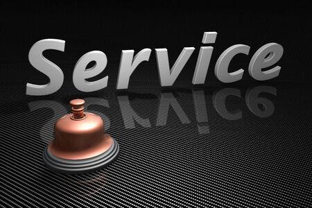 Service bell as a concept photo