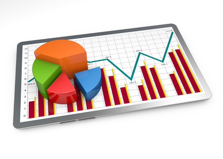 market research: Financial pie chart as a concept Stock Photo
