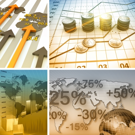 Financial and business chart and graphs Stock fotó - 24876802