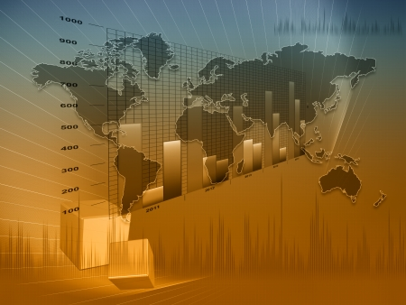 Diagramme financier et d'affaires et des graphiques