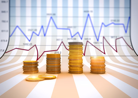Financial business chart and graphs  Stockfoto