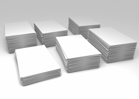Stacks of blank paper as a concept