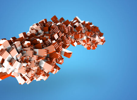 Abstract geometric shapes from cubes as concept photo
